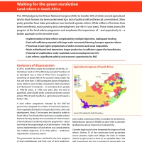 the green revolution and land reforms 3 1 introduction: a green revolution for rural rwanda agricultural systems in africa are severely challenged by various drivers of change such as.