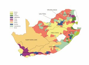 South Africa, agricultural regions, food security, land reform