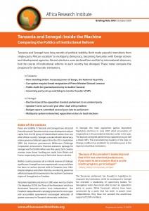 tanzania and senegal cover