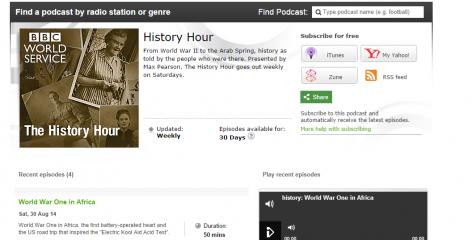 Edward Paice on BBC World Service History Hour