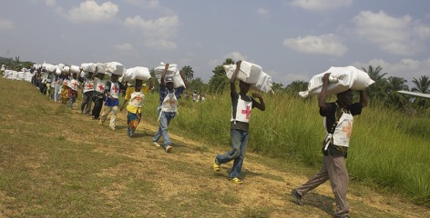 Food distribution, DR Congo