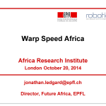 Jonathan Ledgard's presentation slides from Africa Research Institute eventFuture Africa: 'flying donkeys',digital currencies and implanted devices.