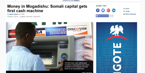 ATM Africa Research Insitute referenced in CNN story on Somalia's first ATM