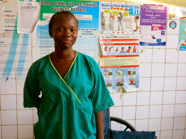 Nurse Belkisu survived the virus and now works on the Ebola ward at Connaught