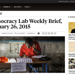 FP Democracy Lab Weekly Brief, 26 January 2015