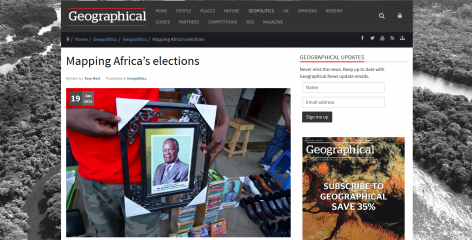 ARI's election resource featured on Geographical Magazine