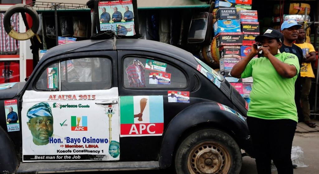 Election-time Lagos. Photographer: Akintunde Akinleye/Corbis