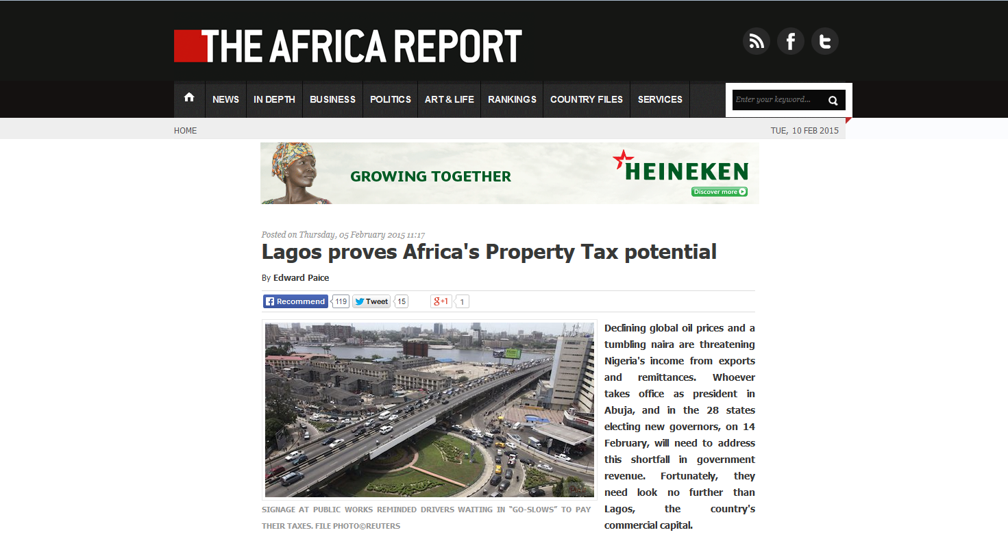 the Africa Report Lagos column