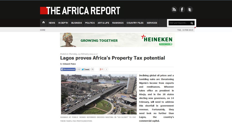 the Africa Report Lagos column