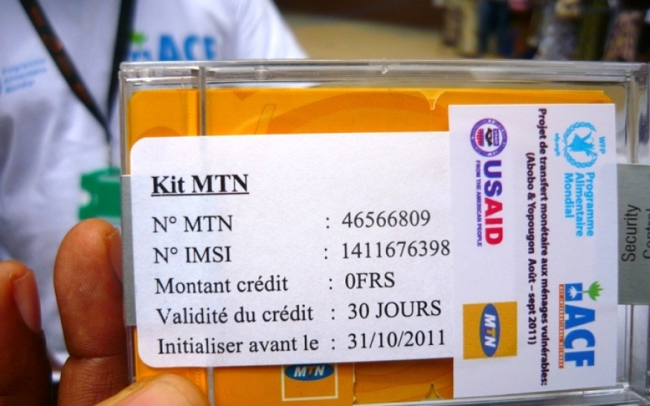 cash transfer sim card