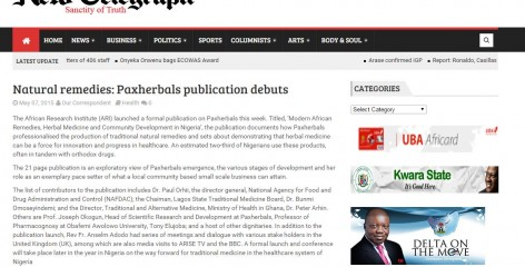 Africa Research Institute in the news in the New Telegraph