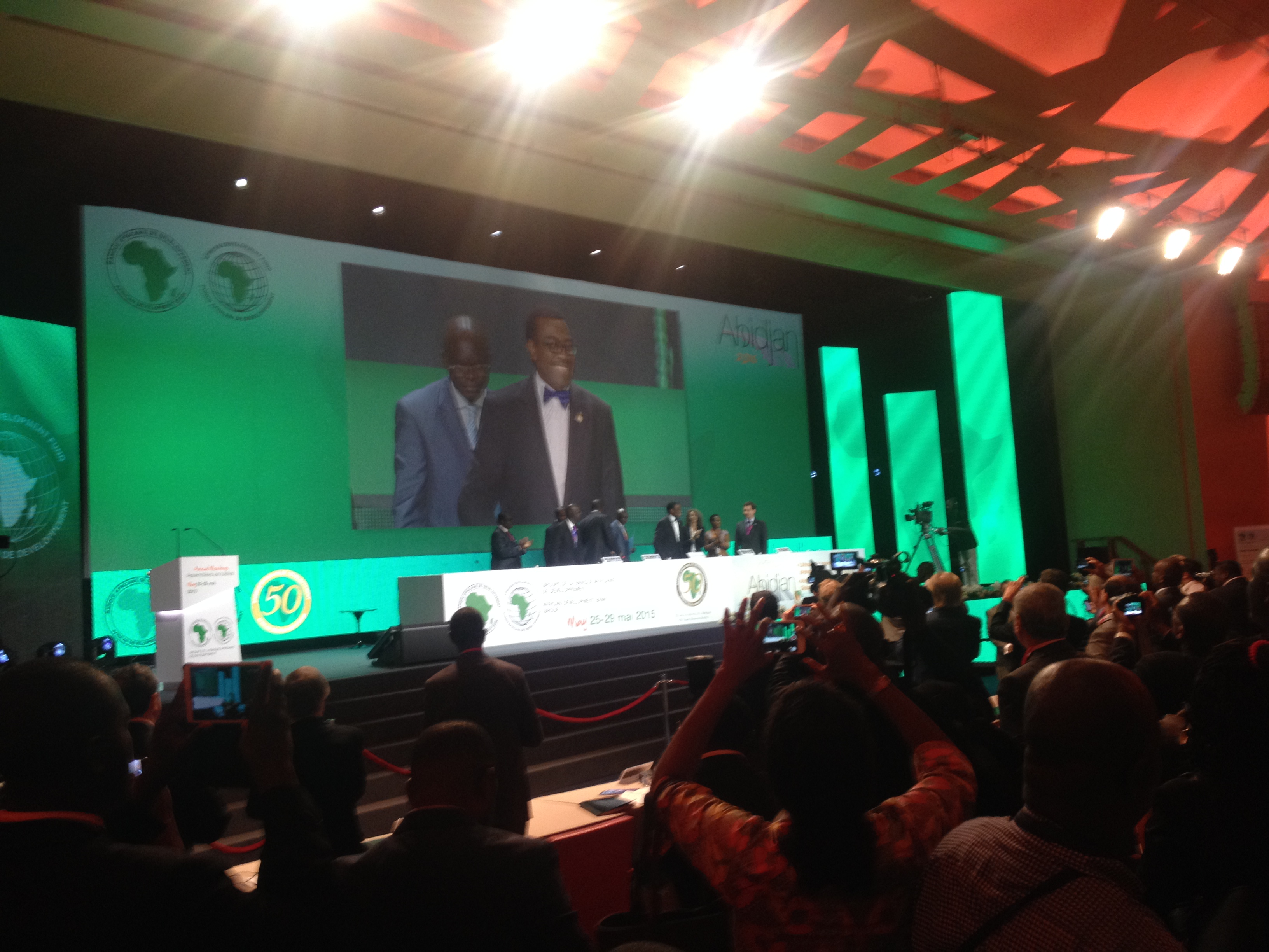 Akinwumi Adesina, Nigeria's Minister for Agriculture and Rural Development, was elected to be the new president of the African Development Bank. at the annual meeting in Abidjan