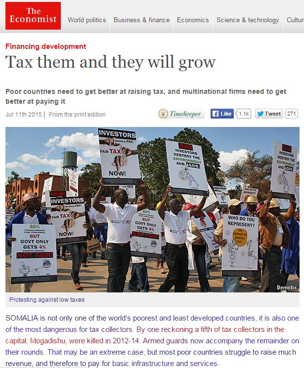 "ARi publication ""How Property Tax Would Benefit Africa"" was cited in The Economist"
