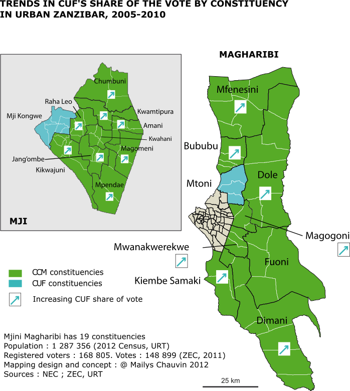 Zanzibar city constituency map 2005-2010