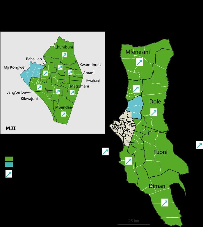 Zanzibar city constituency map 2005-2010