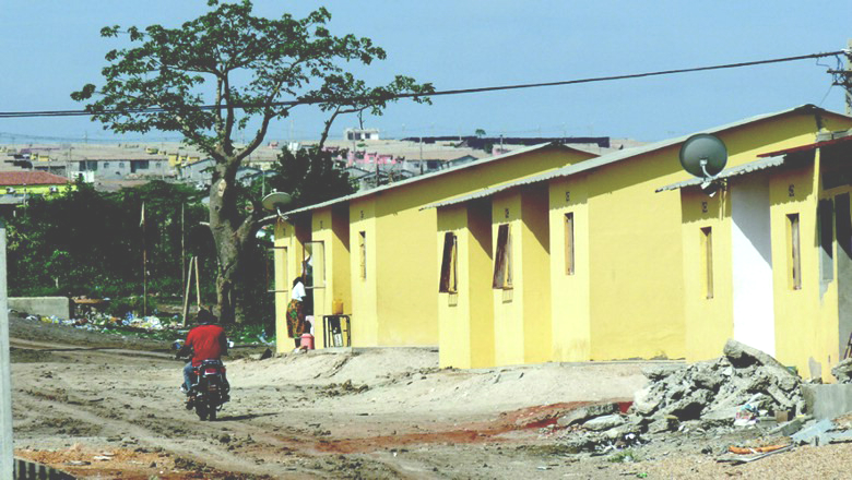 A house in Panguila, a resettlement for residents of Luanda's slums