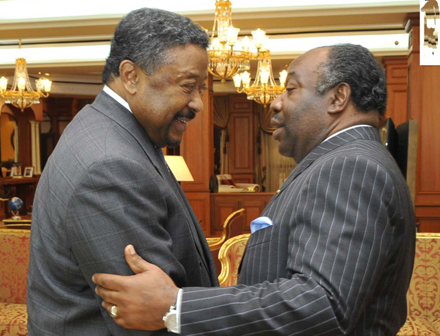 Jean Ping (left) with President Ali Bongo - Photo credit: Uhuruspirit