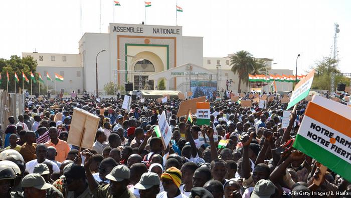 Residents of Niamey, Niger's capital, march against Boko Haram - Photo credit: AFP/Getty Images/B. Hama