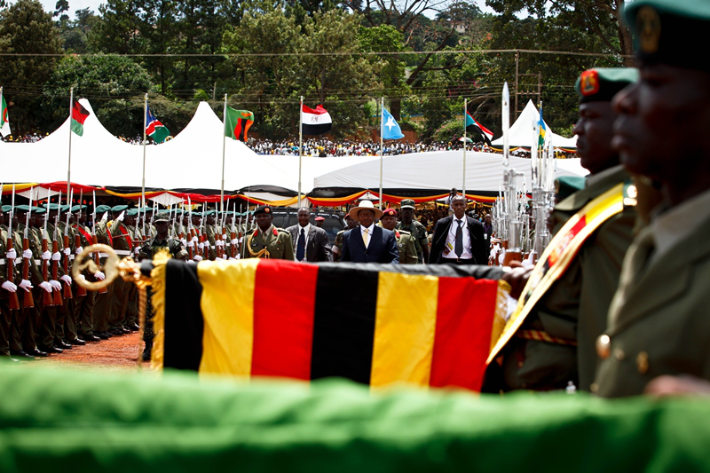 President Museveni being sworn in for his 4th term in 2011 - Credit: Echwalu Photography