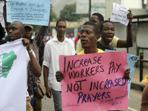 Image result for protest no job and hunger in nigeria