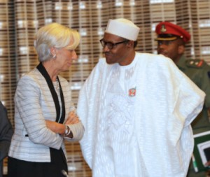 PRESIDENT BUHARI RECEIVES IMF BOSS MRS CHRISTINE LAGARDE
