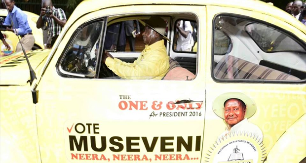 Image result for museveni driving himself