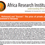 "IPTL, Richmond and ""Escrow"": The price of private power procurement in Tanzania"